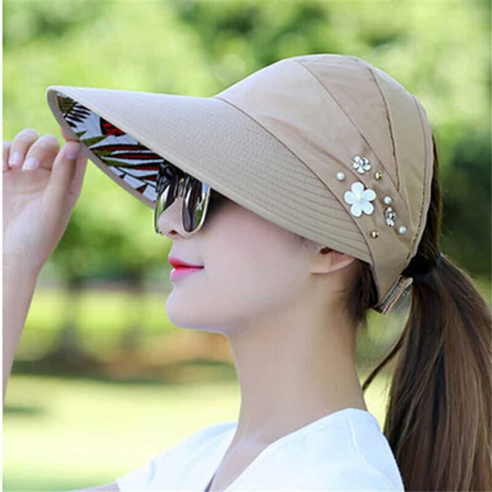 Outdoor Necessities: Ladies Sun Hat UV Protection Visor